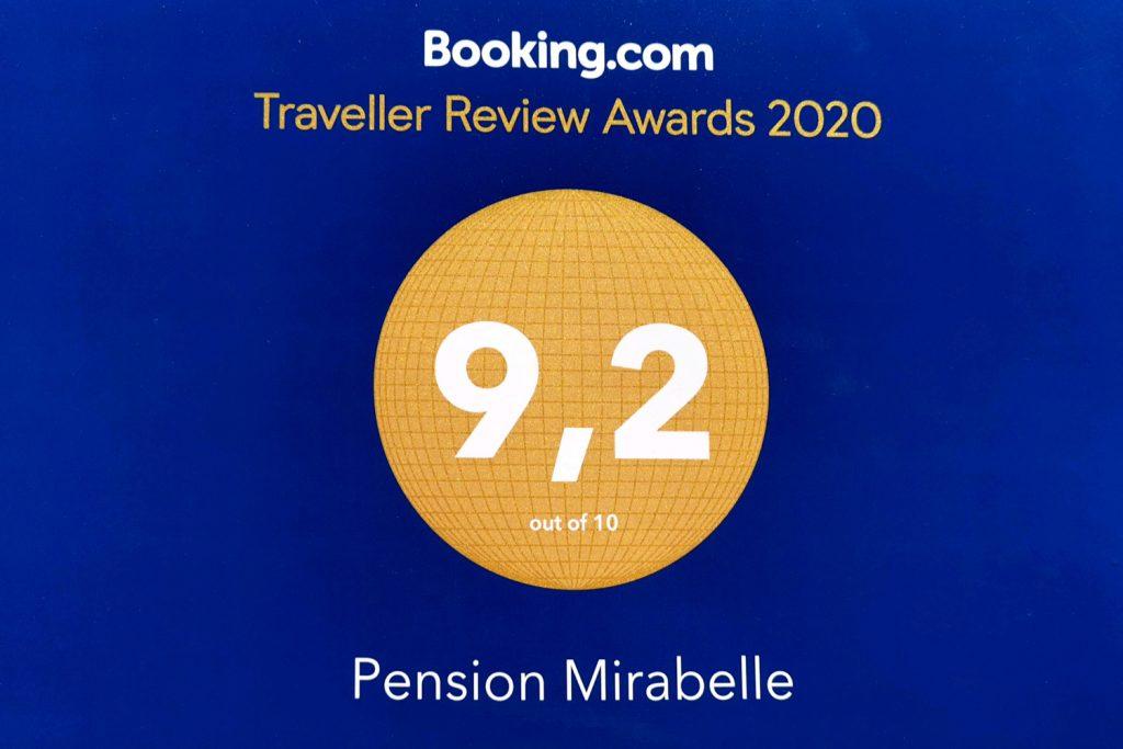 Note attribuée à l'hôtel Pension Mirabelle par Booking.com