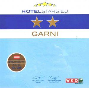 Les 2 étoiles de l'hotel Pension Mirabelle au Tyrol
