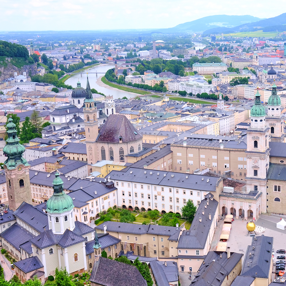 Salzbourg et la rivière Salzach